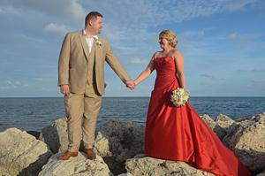 red dress wedding key west