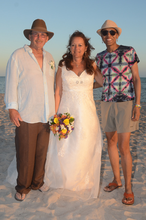 A Surprise Guest at Key West Beach Wedding